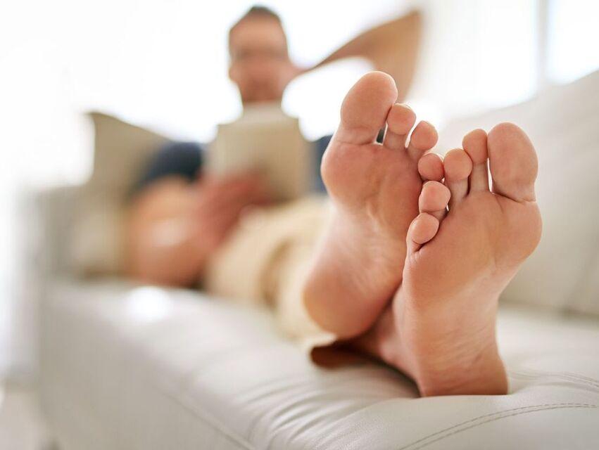 pied en bon santé